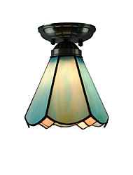 6 inch Retro Tiffany Ceiling Lamp Glass Shade Flush Mount Living Room Bedroom Dining Room Kids Room light Fixture