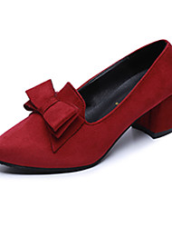 Damen-High Heels-Lässig-Stoff-Flacher AbsatzSchwarz Rot Blau