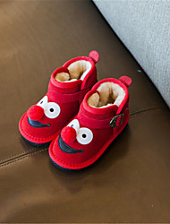 Girl's Baby Boots Winter Comfort Suede Casual Platform Others Red Gray Other