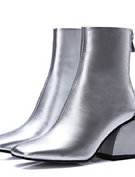 Women's Boots Others PU Outdoor Black Silver