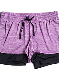 Yoga Pants Baggy shorts / Bottoms Breathable / Lightweight Materials / Comfortable Natural Stretchy Sports Wear Pink / Dark Gray / Purple