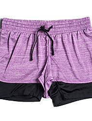 Pantalon de yoga Short baggy / Bas Respirable / Matériaux Légers / Confortable Taille moyenne Extensible Vêtements de sportRose dragée /