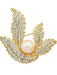 élégantes broches strass fleur de mariage imitation de perles pour les femmes