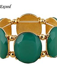 Brand New Arrival Green Resin Stone Gold Trendy Bohemian Adjustable Alloy Bracelet For Christmas Gift BL153251-1
