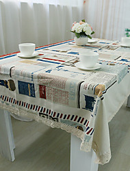 Square Patchwork Table Cloth , 100% Cotton Material Hotel Dining Table Table Decoration