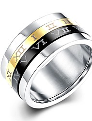 Ring Wedding / Party / Daily / Casual / Sports Jewelry Stainless Steel Women / Men Ring / Engagement Ring 1pc,6 / 7 / 8 Silver