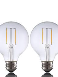 2W E26 LED Glühlampen G80 2 COB 220 lm Warmes Weiß Dimmbar AC 110-130 V 2 Stück