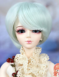 1/3 1/4 BJD SD MSD Doll Wig Synthetic Short Straight Light Sky Blue Color Bob Hair Wig Not for Human Adult