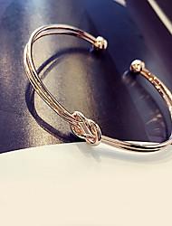 Bracelet Bracelets Rigides Alliage / Zircon Fiançailles / Mariage / Soirée Bijoux Cadeau Argent,1pc