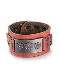 Men's Women's Bracelet Leather Fashion Coffee Jewelry 1pc