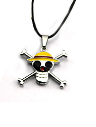 Inspired by One Piece Cosplay Anime Cosplay Accessories Necklace Silver Alloy