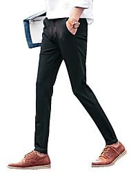 Hommes Grandes Tailles Droite / Mince Chino Pantalon,Vintage / simple Décontracté / Quotidien / Travail / Soirée / Cocktail Couleur Pleine