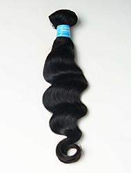 6A 1pcs 100g Black Loose Deep Wave Human Hair Weaves Peruvian Texture Human Hair Extensions