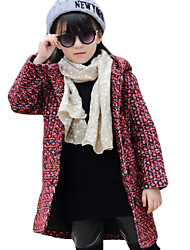 Girl Casual/Daily Solid Suit & BlazerCotton Winter Long Sleeve