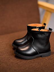 Boys' Boots Winter Platform Cowhide Casual Platform Black Brown Walking