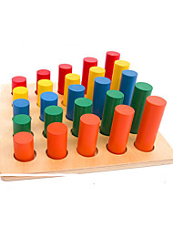 Educational Toy Cylindrical Wood Rainbow