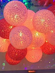 les lumières de la batterie thailande série feux de boule de coton couleur billes 20 lampe 3.5meters cap