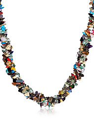 MISSING U Necklace Jewelry Party / Daily / Casual Vintage / Bohemia Style Crystal / Agate Women 1pc Gift