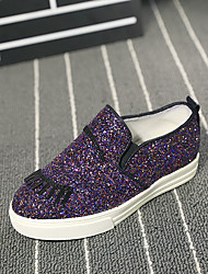 Girl's Loafers & Slip-Ons Comfort PU Casual Purple / Silver