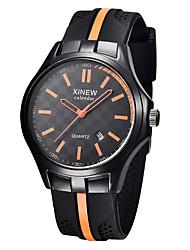 Men's Sport Watch Fashion Watch Quartz PU Band Black Brand