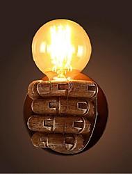 AC 220-240 40 E26/E27 Rustico/lodge Pittura caratteristica for Lampadina inclusa,Luce ambient Lampade a candela da parete Luce a muro