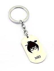Inspired by MEI Overwatch  Anime Cosplay Accessories Keychain Silver Alloy