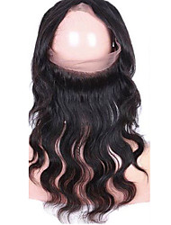 360 frontal Ondulation naturelle Cheveux humains Fermeture Dentelle Suisse gramme Moyenne Cap Taille