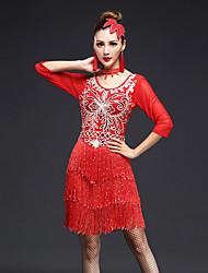 Devemos vestidos de dança latina vestir roupas femininas 4 peças