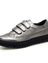 Men's Sneakers Spring / Fall / Winter Others Leather Outdoor / Casual Magic Tape Black / Silver
