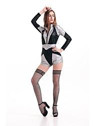 Cosplay Costumes Super Heroes Movie Cosplay Silver Solid Leotard/Onesie / Belt Halloween / Carnival Female Polyester