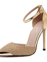 Femme-Mariage Habillé Sport Soirée & Evénement-Or Argent-Talon Aiguille-Confort Gladiateur-Chaussures à Talons-Polyuréthane