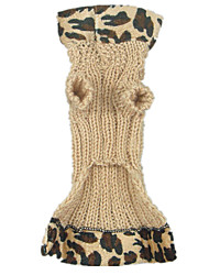 Dog Coat Dog Clothes Keep Warm Leopard Black Yellow
