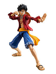 Figures Anime Action Inspiré par One Piece Monkey D. Luffy Anime Accessoires de Cosplay figure Rouge PVC