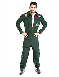 Cosplay Costumes Party Costume Soldier/Warrior Career Costumes Festival/Holiday Halloween Costumes Green Print Leotard/Onesie Belt