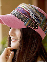 Fashion Spring and Autumn Winter National Colorful Belt Buckle Cap President Ms.