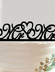 Acrylic letters wedding cake inserted fine decoration birthday cake inserted card