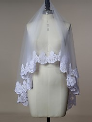 Wedding Veil One-tier Blusher Veils Elbow Veils Fingertip Veils Lace Applique Edge Tulle