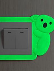 Animaux Stickers muraux Stickers muraux lumineux Stickers muraux décoratifs / Stickers d'interrupteurs,Vinyle MatérielDécoration