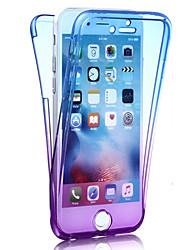 Pro iPhone 8 iPhone 8 Plus iPhone 7 iPhone 7 Plus iPhone 6 Pouzdra a obaly Nárazuvzdorné Oboustranný Carcasă Zářící barvy Měkké TPU pro