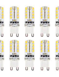 2W G9 LED Bi-pin Lights T 32 SMD 2835 210-230 lm Warm White / Cool White Dimmable / Waterproof AC 110/220 V 10 pcs