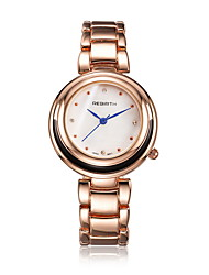 REBIRTH® Women's Fashion Watch / Wrist watch Quartz Water Resistant/Water Proof Alloy Band Casual Silver / Gold Brand