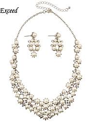 Bijoux 1 Collier / 1 Paire de Boucles d'Oreille Cristal / Perle imitée Halloween / Mariage / Soirée / Quotidien / Décontracté 1set Femme