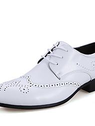 Herren-Outdoor-Lässig-PU-Flacher Absatz-Komfort-Schwarz Braun Weiß