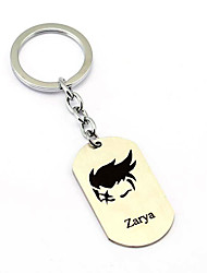 Inspired by zarya Overwatch  Anime Cosplay Accessories Keychain Silver Alloy