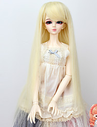 1/3 1/4 Bjd SD DZ MSD Doll Wig Accessories Long Straight Beige Color Hair Wigs Not for Human Adult
