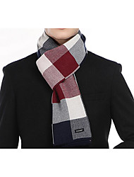 Men Wool Scarf,Casual RectangleCheck