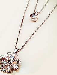 Necklace / Pendants Jewelry Casual Flower Style / Pendant Alloy Women 1pc Gift Rose Gold