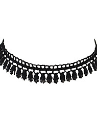 Gothic Style Elastic Black Lace Choker Collar Necklaces Jewelry