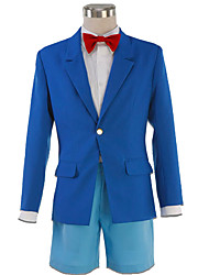 Inspired by Detective Conan Cosplay Anime Cosplay Costumes Cosplay Suits Solid Coat Shirt Bow Shorts For Kid's