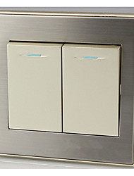 Champagne Gold Two Double Control Switch Wall Switch Panel Two Double Switch